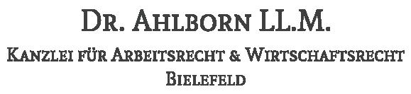 Logo der Kanzlei Dr. Ahlborn - Arbeitsrecht und Wirtschaftsrecht
